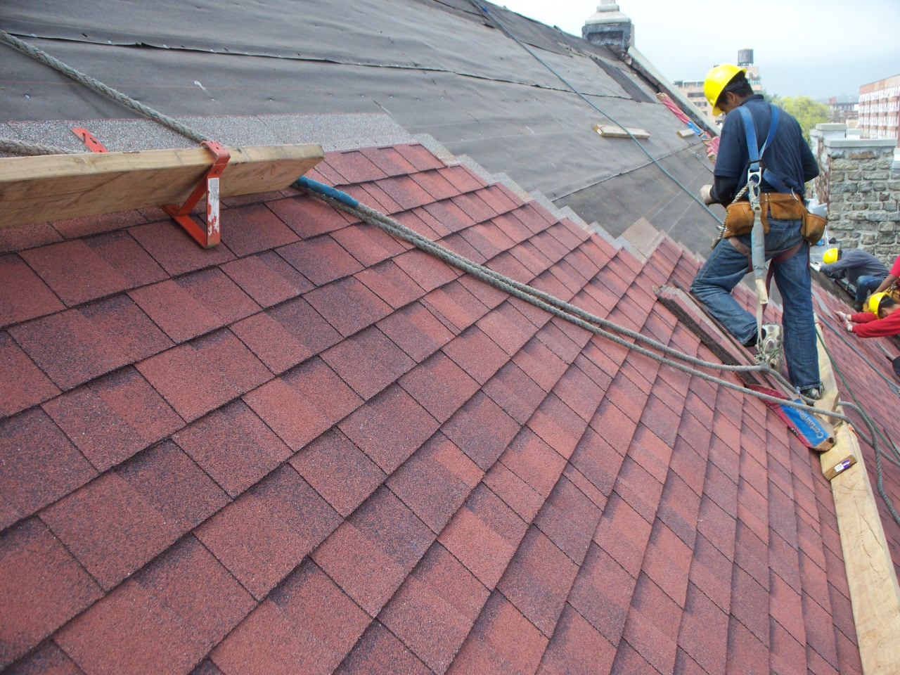 roof shingles are a roof covering consisting of individual overlapping elements these elements are normally flat rectangular shapes that are laid in rows - Roof Covering